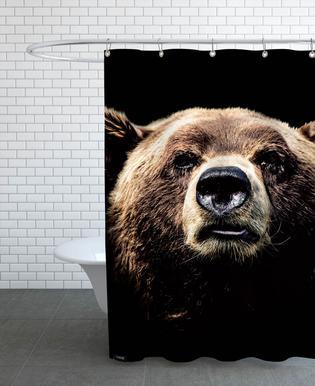 Dark Bear douchegordijn