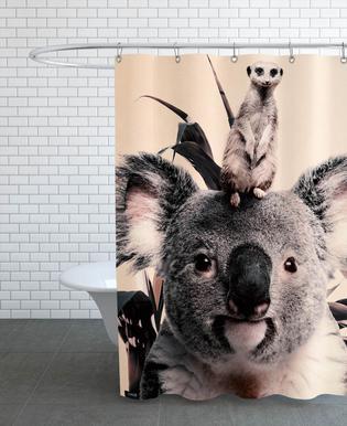 Koala Meerkat Dreamteam douchegordijn