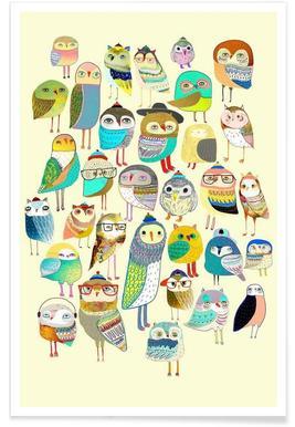 Owl Hundreds Poster