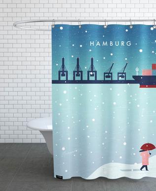 Hamburg Im Winter Shower Curtain