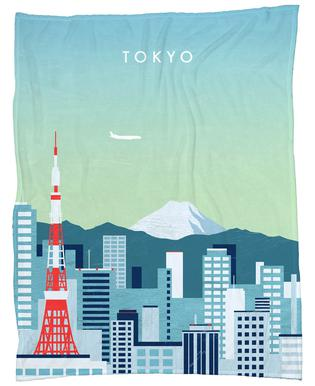 Tokyo Fleece Blanket