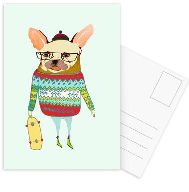 French Bulldog Skater cartes postales