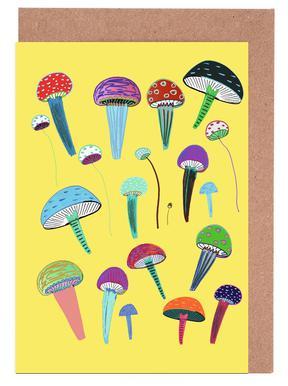 Mushrooms Greeting Card Set