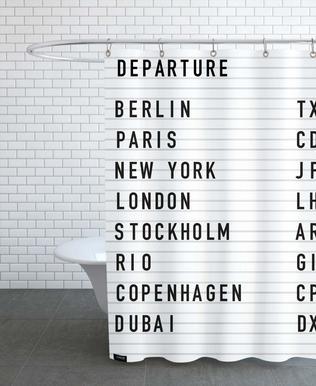 Departure Berlin Shower Curtain