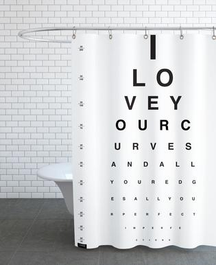 Eye Chart I Love You rideau de douche