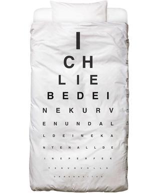 Eye Chart Ich Liebe Dich Bed Linen