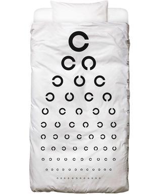 Eye Chart Japanese Design Dekbedovertrekset