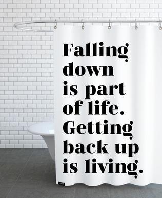 Get Back Up Shower Curtain
