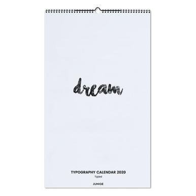 Typography Calendar 2020 - Typed wandkalender