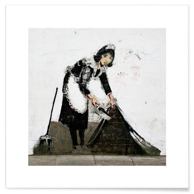 Banksy Cleaning Lady Poster