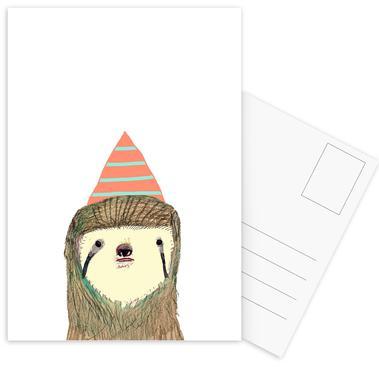 Sloth -Postkartenset