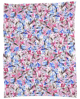 Wandering Wildflowers Pink Fleece Blanket