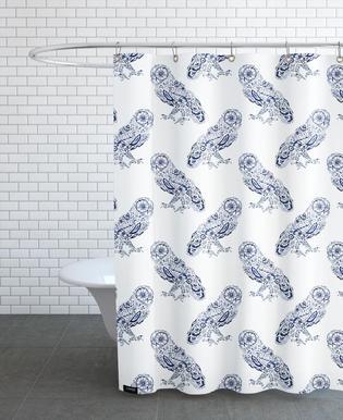 Folk Floral Owl rideau de douche