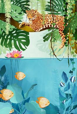 Welcome to the Jungle alu dibond