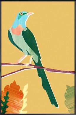 Green Bird affiche encadrée
