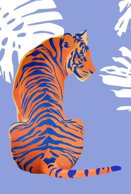 Tiger -Acrylglasbild
