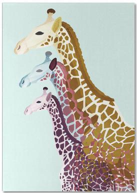 Giraffes Mint Notepad