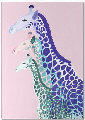 Giraffes Pink Notepad