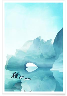 Penguins by Day Poster