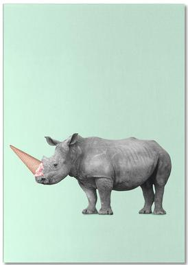Ice Cream Rhino Notepad