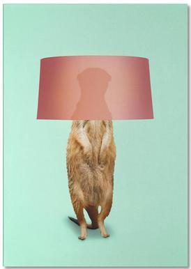 Meerkat Lamp Notepad