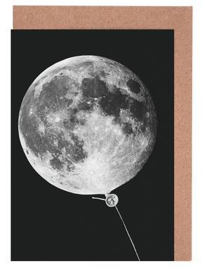 Moon Baloon cartes de vœux