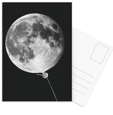 Moon Baloon Postcard Set