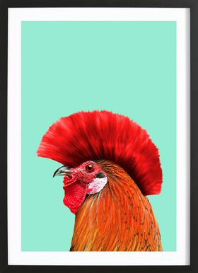 Punk Cock ingelijste print