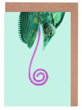 Candy Chameleon Greeting Card Set