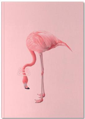 Neon Flamingo Anteckningsbok