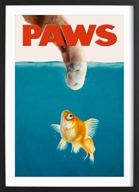 Paws Poster i träram