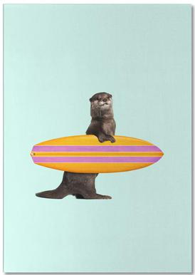 Surfing Otter Notepad