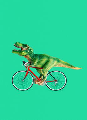 T-Rex Bike canvas doek