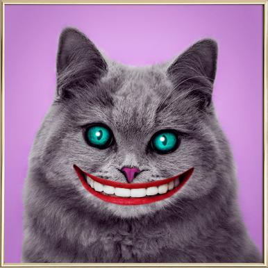 Cheshire Cat Poster in Aluminium Frame
