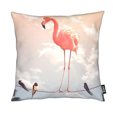Flamingo and Friends coussin