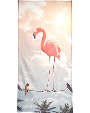 Flamingo and Friends Beach Towel