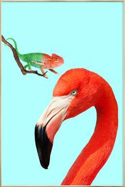 Colorful Friends affiche sous cadre en aluminium
