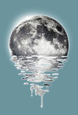 Melting Moon Aluminium Print