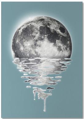 Melting Moon -Notizblock