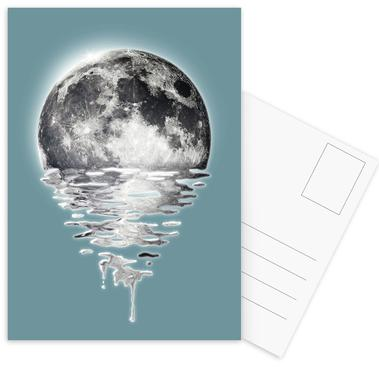 Melting Moon Postcard Set