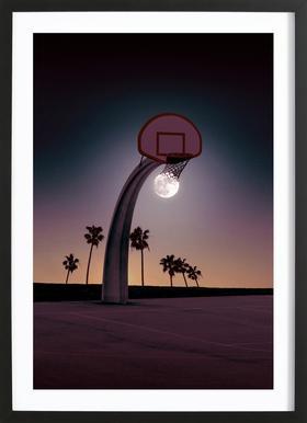 Basketmoon Framed Print