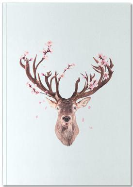 Cherry Blossom Deer Notebook