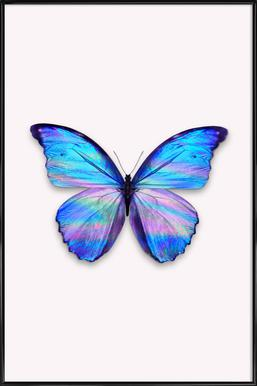 Holographic Butterfly Framed Poster