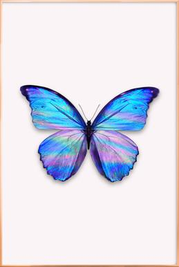Holographic Butterfly Poster in Aluminium Frame
