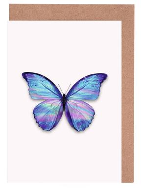 Holographic Butterfly Greeting Card Set