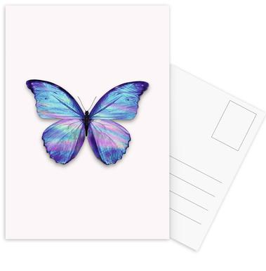 Holographic Butterfly Postcard Set