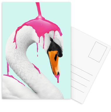How to Make a Flamingo Postcard Set