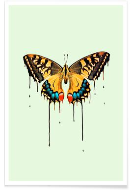 Melting Butterfly Poster
