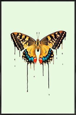 Melting Butterfly Framed Poster