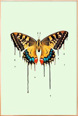 Melting Butterfly Poster in Aluminium Frame